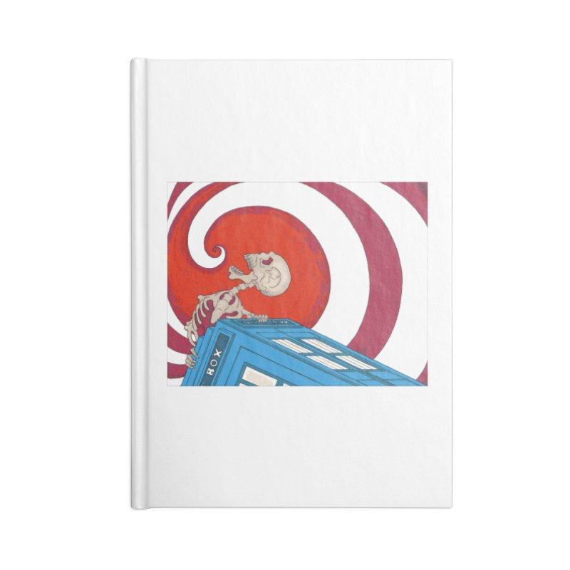 Phone Box Skeleton Accessories Notebook by Nick Lee Art's Artist Shop
