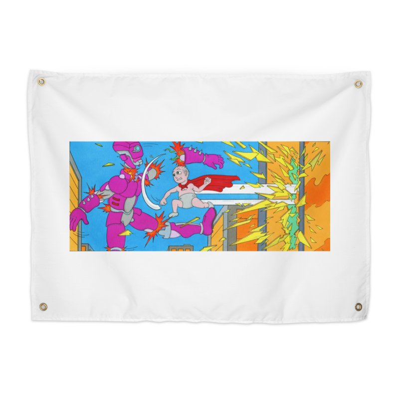 Super Baby! Home Tapestry by Nick Lee Art's Artist Shop