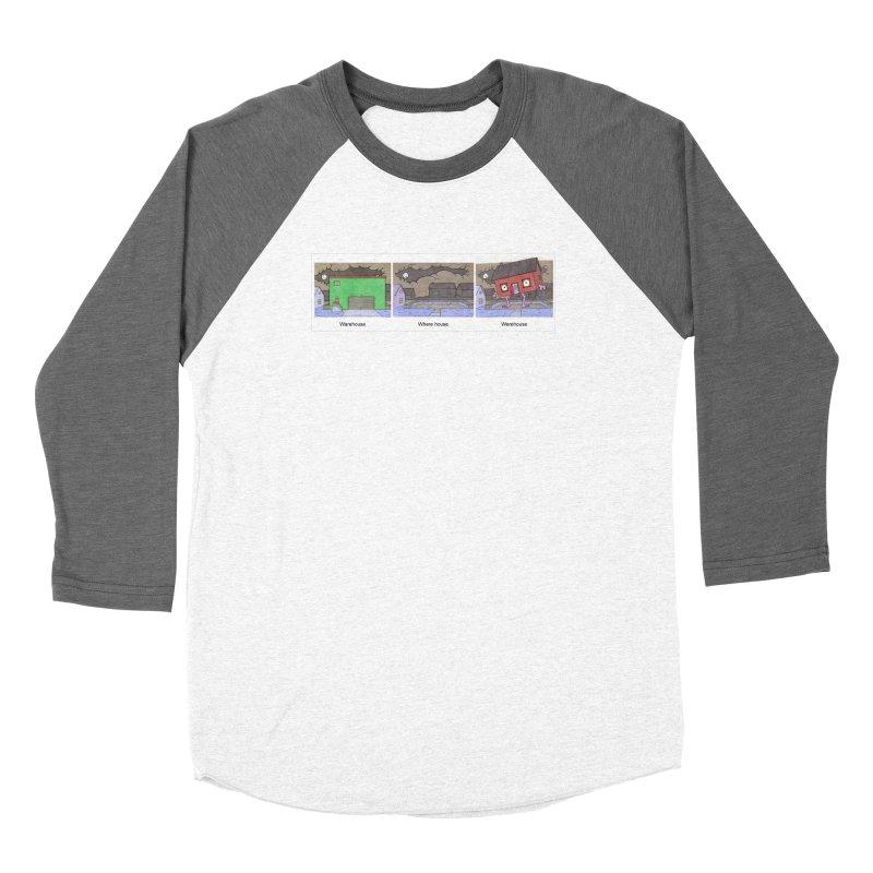 Warehouse, Where house, Werehouse! Women's Longsleeve T-Shirt by Nick Lee Art's Artist Shop