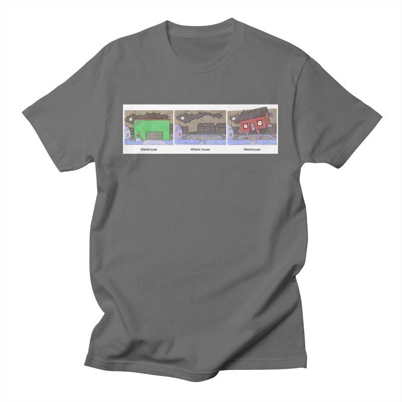 Warehouse, Where house, Werehouse! Men's T-Shirt by Nick Lee Art's Artist Shop