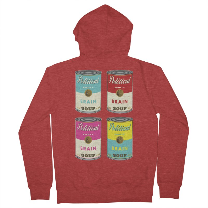 Political Brain Soup Women's French Terry Zip-Up Hoody by nickmanofredda's Artist Shop