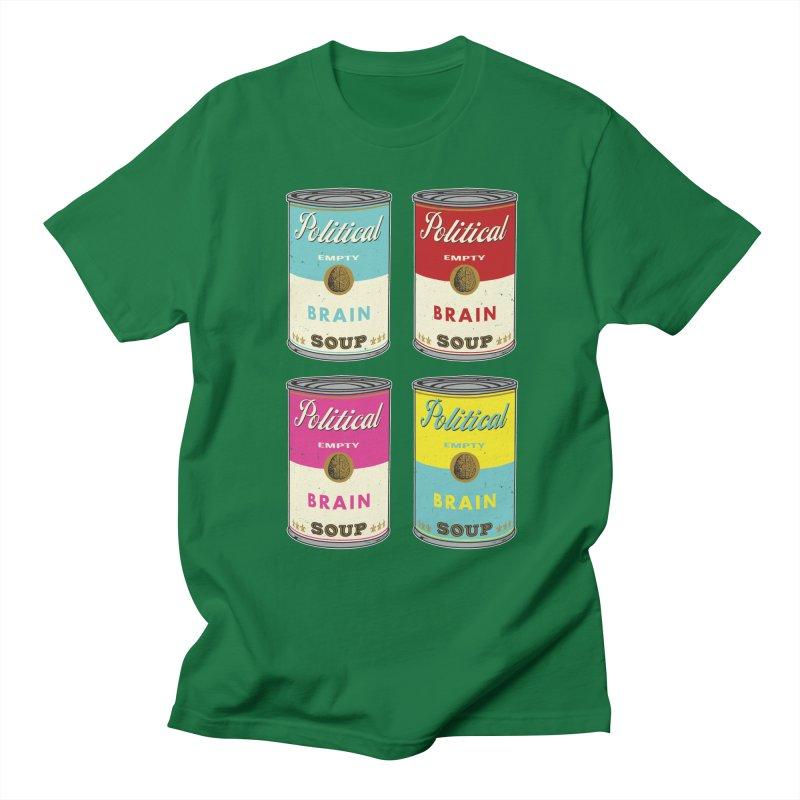 Political Brain Soup Men's Regular T-Shirt by nickmanofredda's Artist Shop