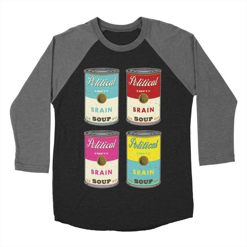 Political Brain Soup Women's Baseball Triblend T-Shirt by nickmanofredda's Artist Shop