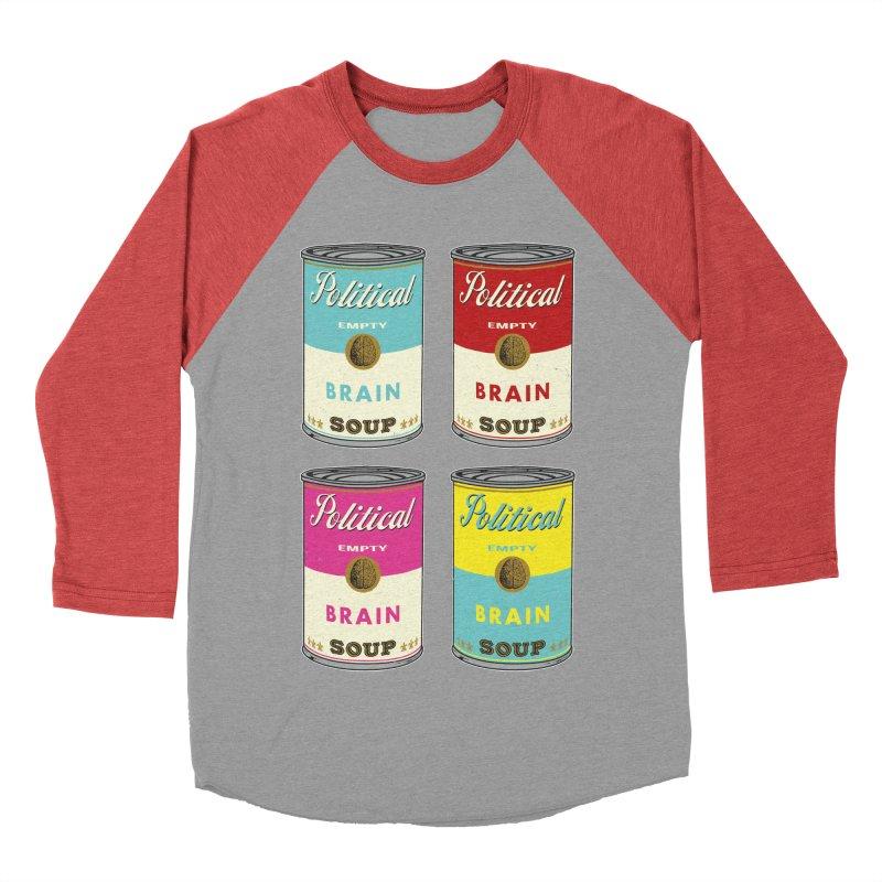 Political Brain Soup Men's Baseball Triblend Longsleeve T-Shirt by nickmanofredda's Artist Shop