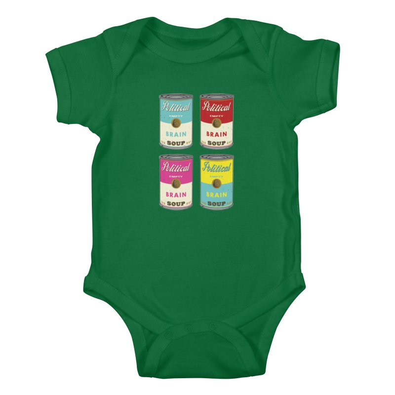 Political Brain Soup Kids Baby Bodysuit by nickmanofredda's Artist Shop