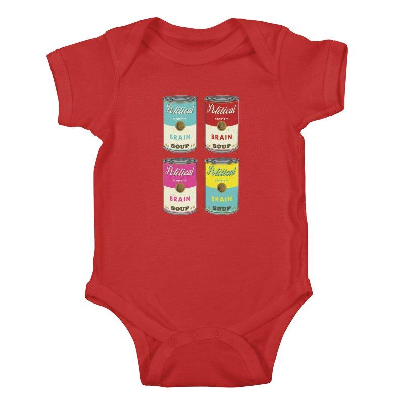 Political Brain Soup Kids Baby Bodysuit by nickmanofredda's Artist Shop