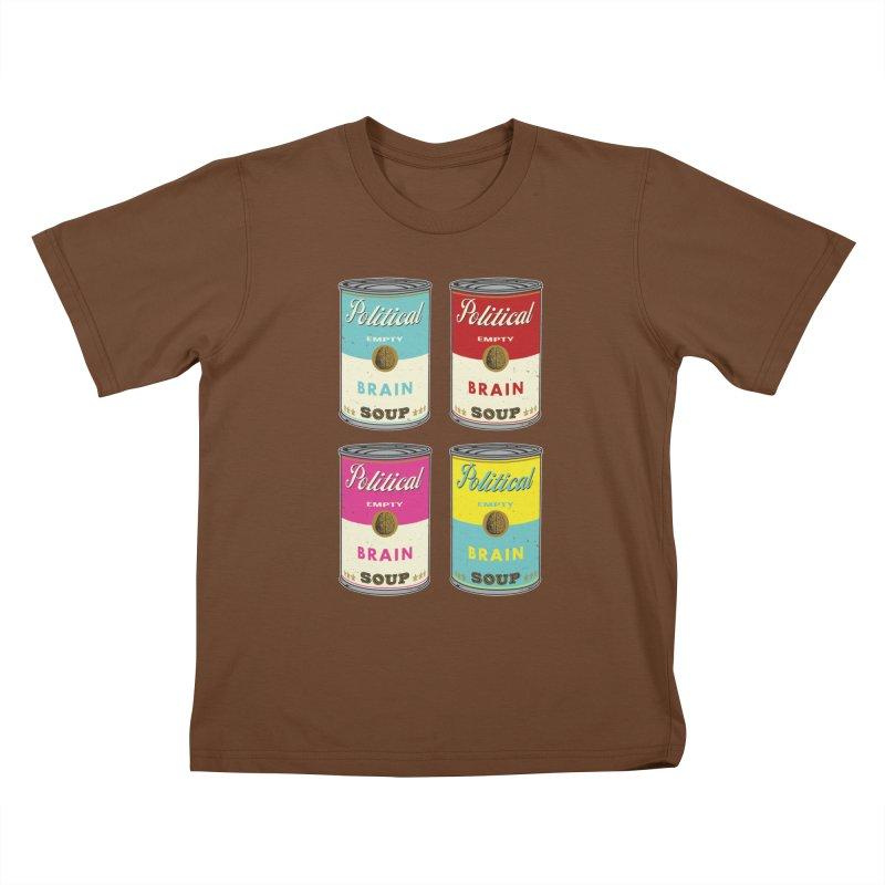 Political Brain Soup Kids T-Shirt by nickmanofredda's Artist Shop