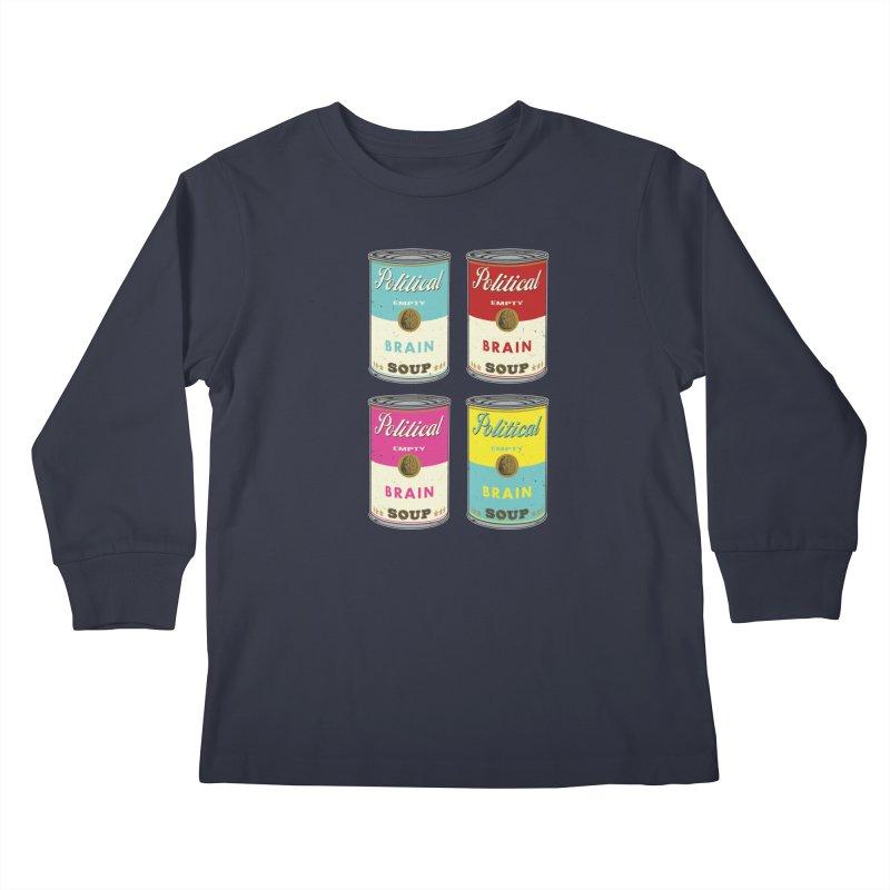 Political Brain Soup Kids Longsleeve T-Shirt by nickmanofredda's Artist Shop