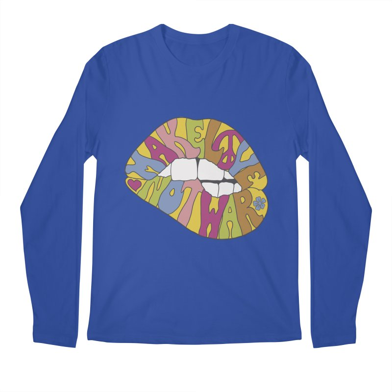 MAKE LOVE NOT WAR Men's Regular Longsleeve T-Shirt by nickmanofredda's Artist Shop