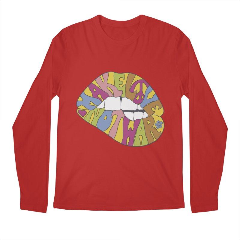 MAKE LOVE NOT WAR Men's Longsleeve T-Shirt by nickmanofredda's Artist Shop