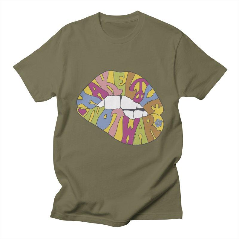 MAKE LOVE NOT WAR Men's Regular T-Shirt by nickmanofredda's Artist Shop