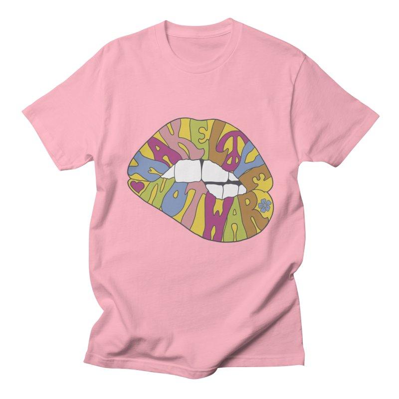 MAKE LOVE NOT WAR Men's T-Shirt by nickmanofredda's Artist Shop