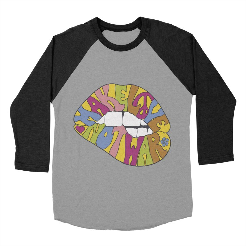 MAKE LOVE NOT WAR Women's Baseball Triblend T-Shirt by nickmanofredda's Artist Shop