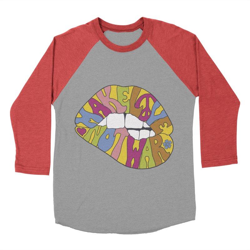 MAKE LOVE NOT WAR Men's Baseball Triblend T-Shirt by nickmanofredda's Artist Shop