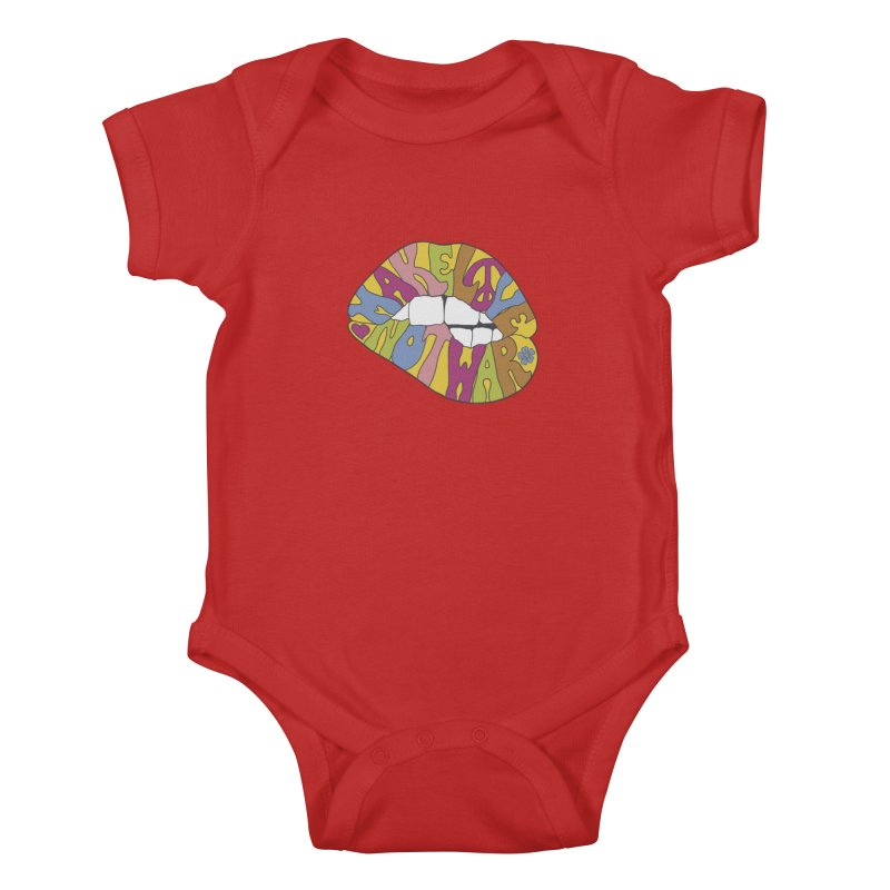 MAKE LOVE NOT WAR Kids Baby Bodysuit by nickmanofredda's Artist Shop