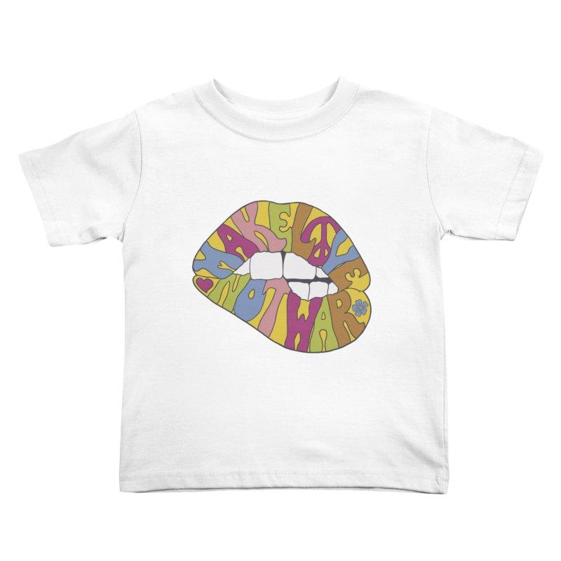 MAKE LOVE NOT WAR Kids Toddler T-Shirt by nickmanofredda's Artist Shop