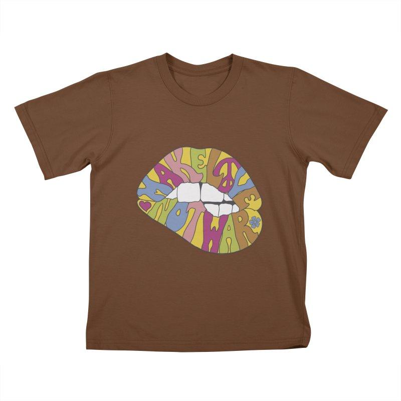MAKE LOVE NOT WAR Kids T-Shirt by nickmanofredda's Artist Shop