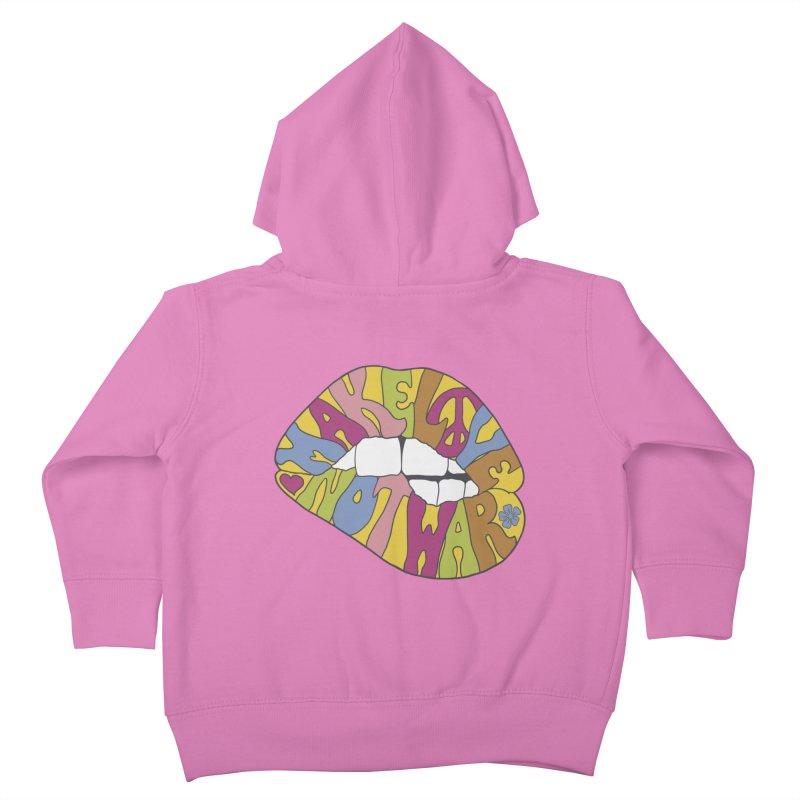 MAKE LOVE NOT WAR Kids Toddler Zip-Up Hoody by nickmanofredda's Artist Shop