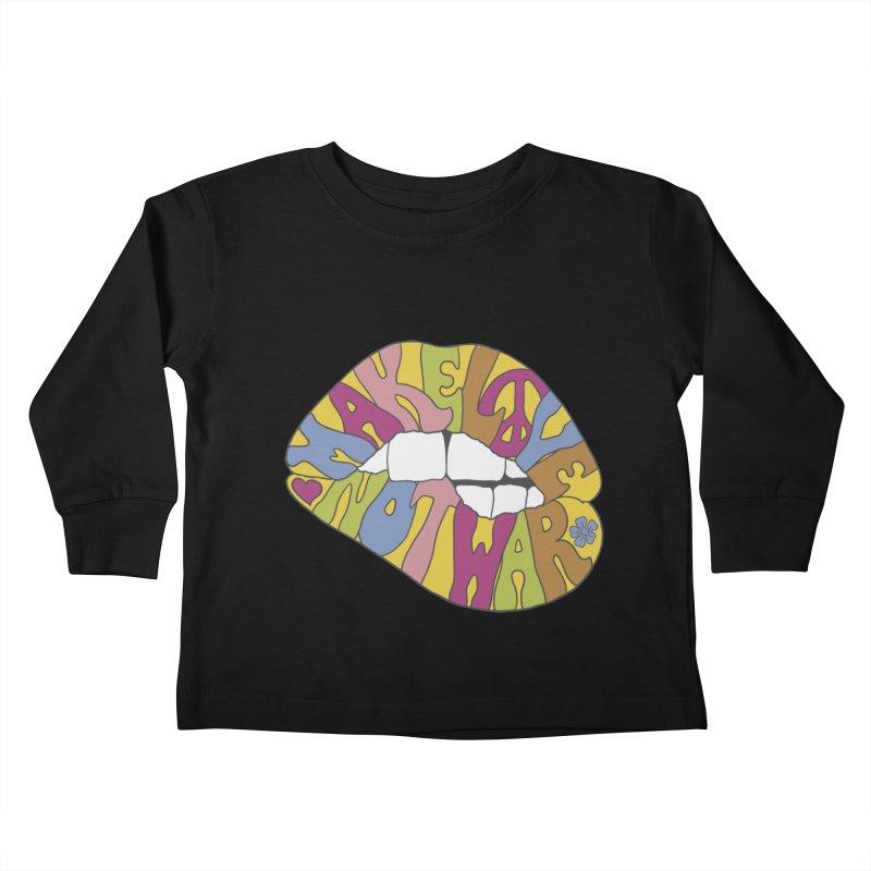 MAKE LOVE NOT WAR Kids Toddler Longsleeve T-Shirt by nickmanofredda's Artist Shop