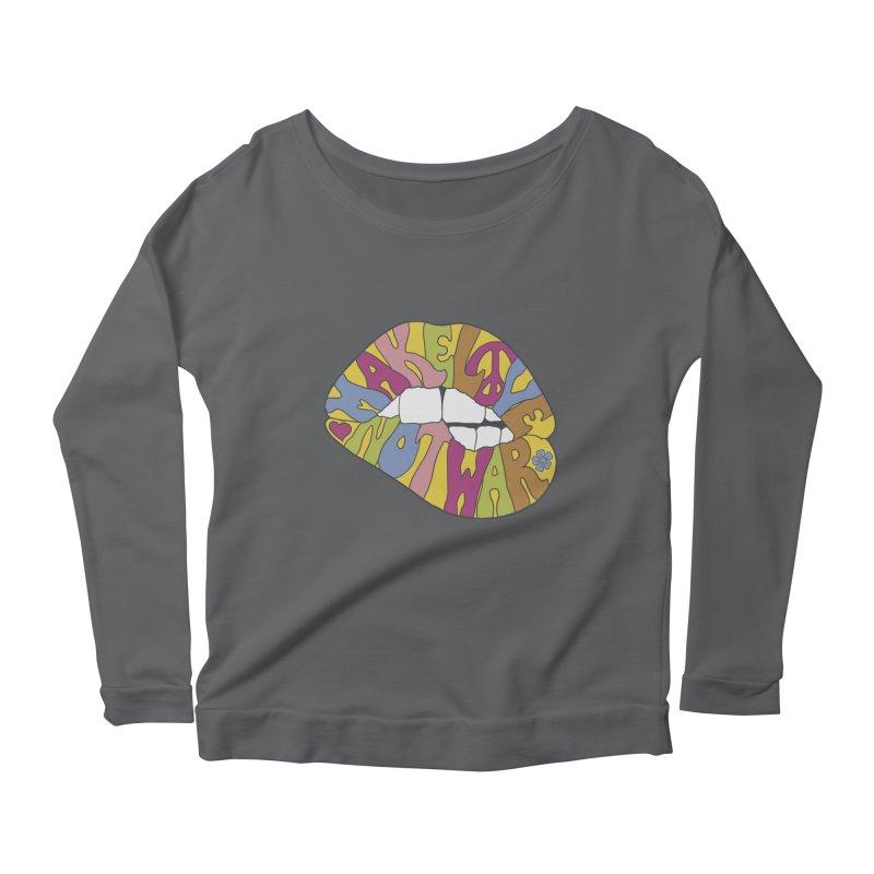 MAKE LOVE NOT WAR Women's Scoop Neck Longsleeve T-Shirt by nickmanofredda's Artist Shop
