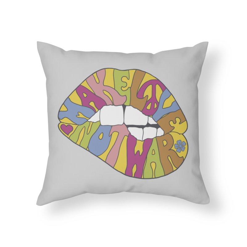 MAKE LOVE NOT WAR Home Throw Pillow by nickmanofredda's Artist Shop