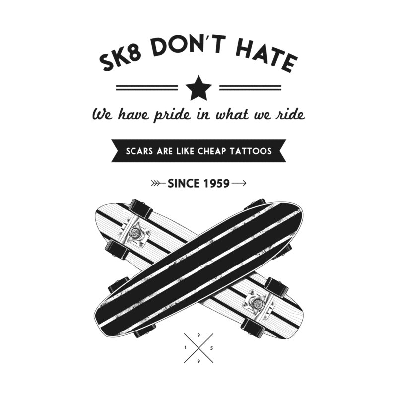Sk8 Don't Hate Home Blanket by nickmanofredda's Artist Shop