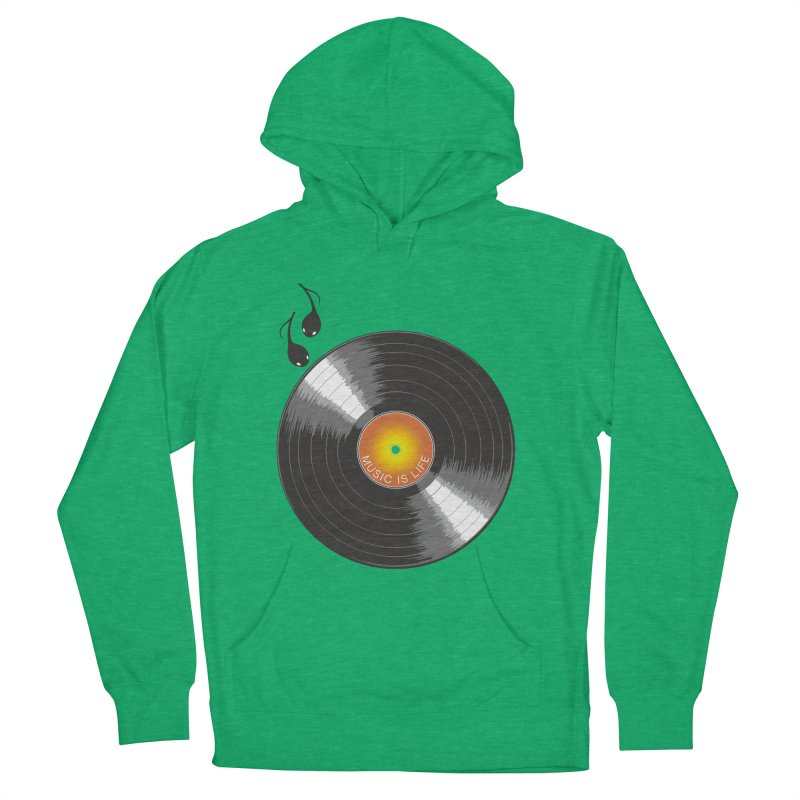 Music is Life Women's French Terry Pullover Hoody by nickmanofredda's Artist Shop