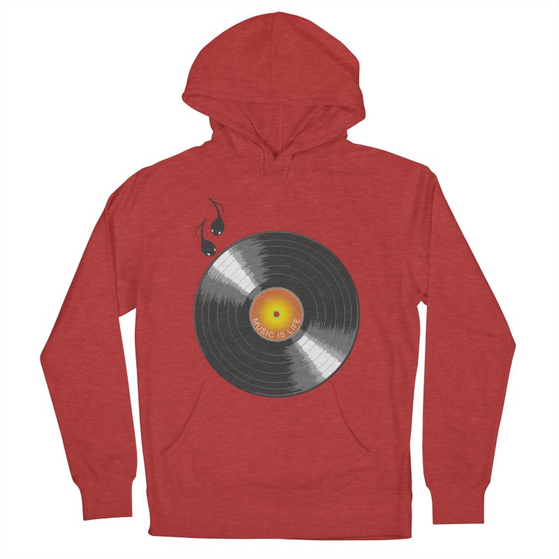 Music is Life Women's Pullover Hoody by nickmanofredda's Artist Shop