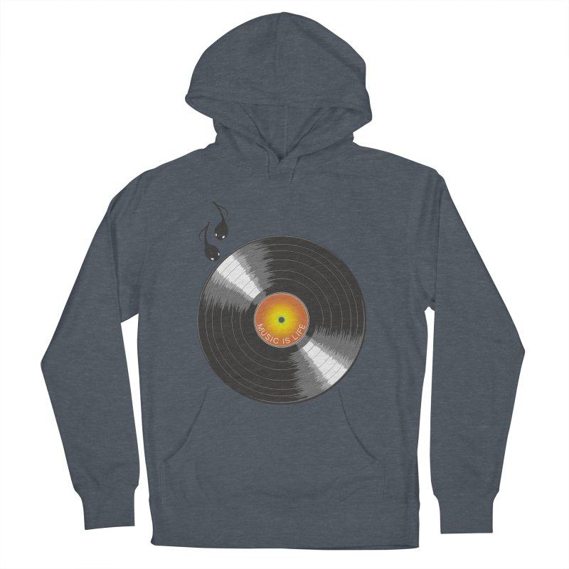 Music is Life Men's Pullover Hoody by nickmanofredda's Artist Shop