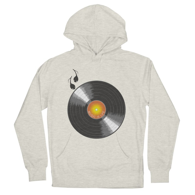 Music is Life Men's Pullover Hoody by nickmanofredda's Artist Shop