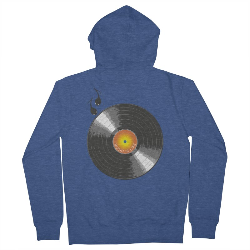 Music is Life Women's French Terry Zip-Up Hoody by nickmanofredda's Artist Shop