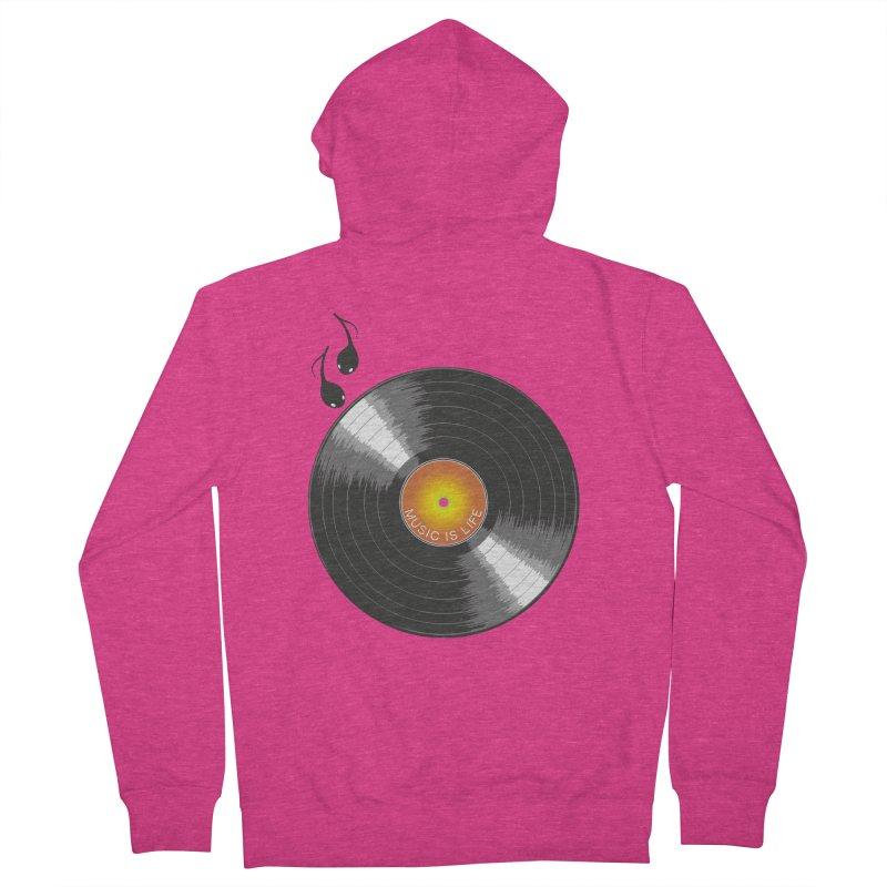 Music is Life Women's Zip-Up Hoody by nickmanofredda's Artist Shop