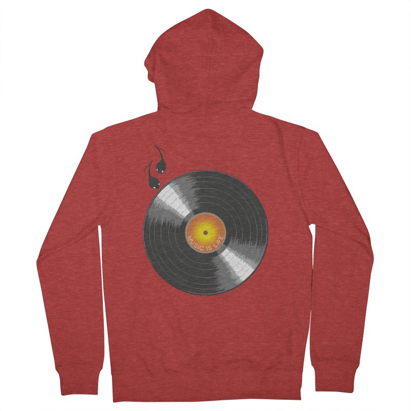 Music is Life Men's Zip-Up Hoody by nickmanofredda's Artist Shop