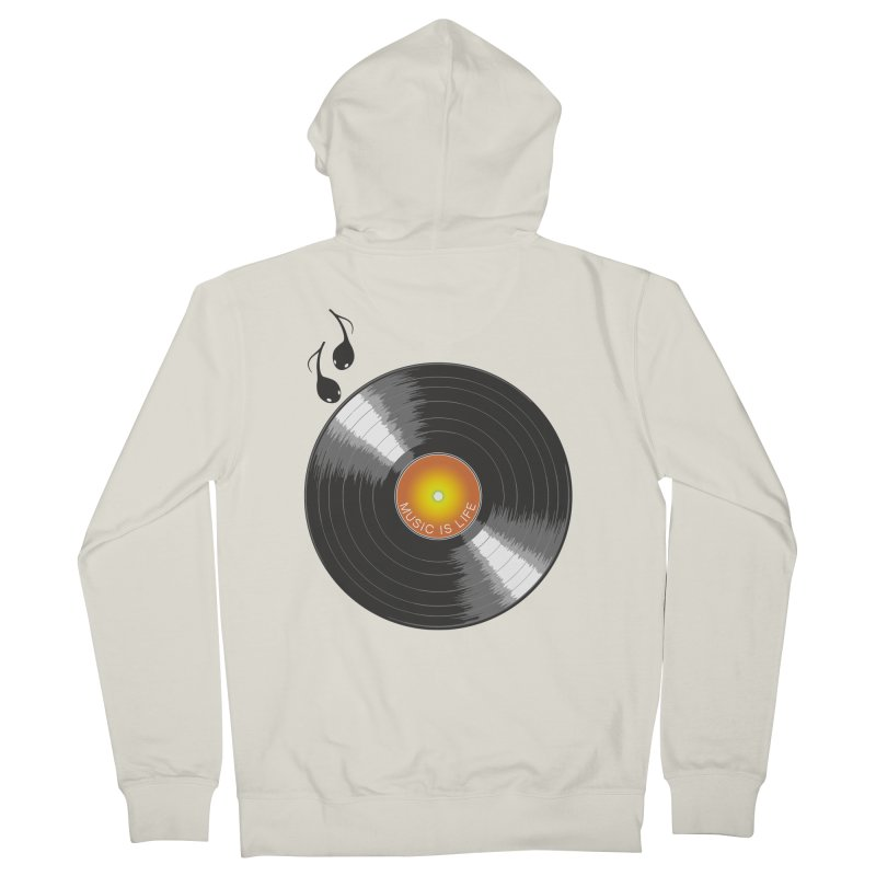 Music is Life Men's French Terry Zip-Up Hoody by nickmanofredda's Artist Shop