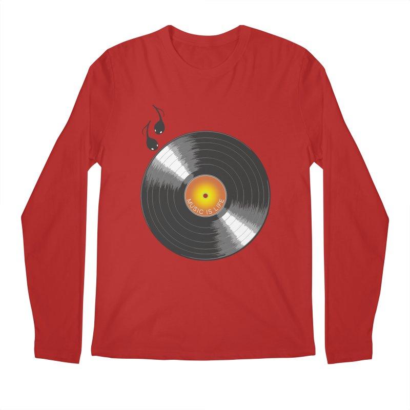 Music is Life Men's Longsleeve T-Shirt by nickmanofredda's Artist Shop