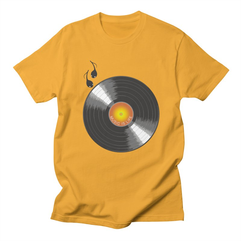 Music is Life Men's Regular T-Shirt by nickmanofredda's Artist Shop