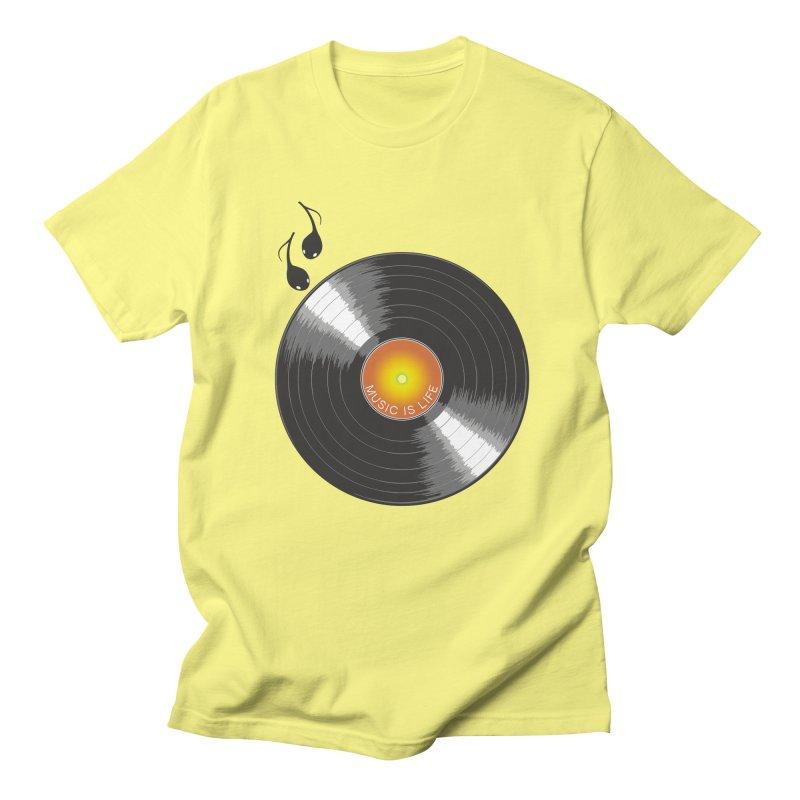 Music is Life Men's T-Shirt by nickmanofredda's Artist Shop