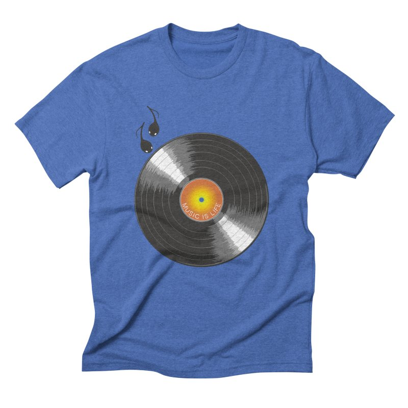 Music is Life Men's Triblend T-Shirt by nickmanofredda's Artist Shop