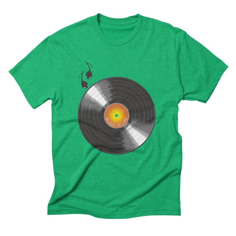 Music is Life Men's Triblend T-Shirt by nickmanofredda's Artist Shop