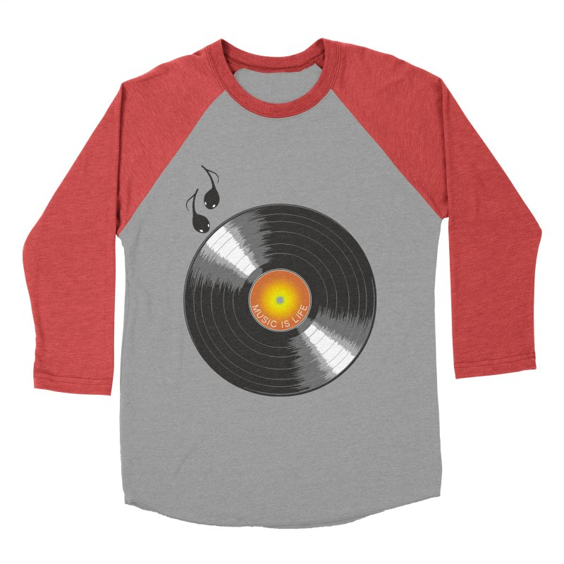 Music is Life Women's Baseball Triblend Longsleeve T-Shirt by nickmanofredda's Artist Shop