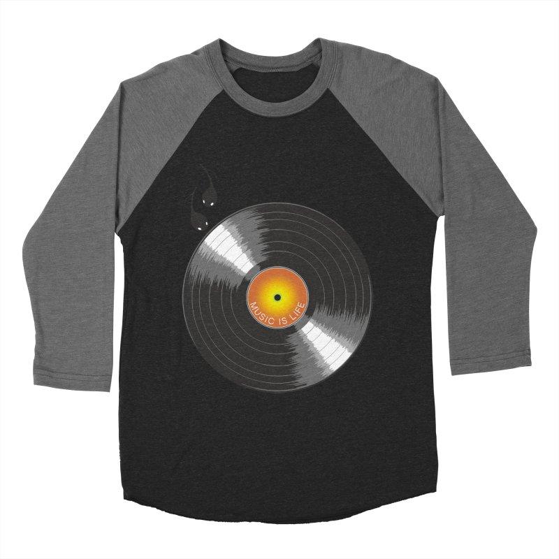 Music is Life Women's Baseball Triblend T-Shirt by nickmanofredda's Artist Shop