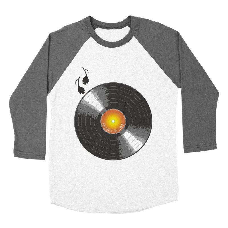 Music is Life Men's Baseball Triblend T-Shirt by nickmanofredda's Artist Shop
