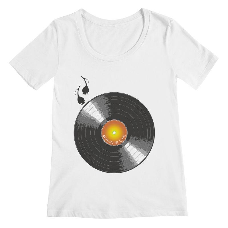 Music is Life Women's Regular Scoop Neck by nickmanofredda's Artist Shop