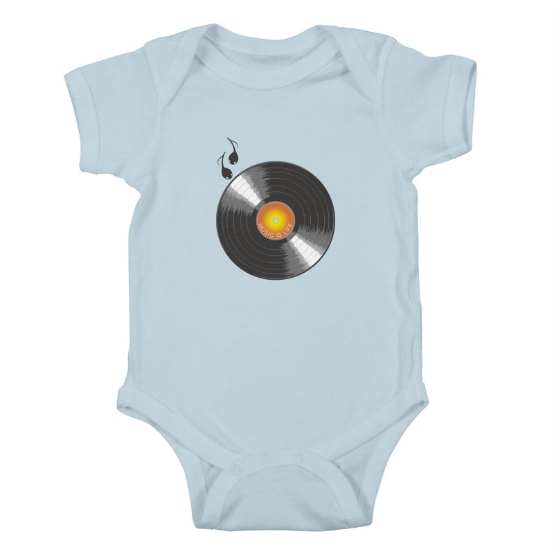 Music is Life Kids Baby Bodysuit by nickmanofredda's Artist Shop