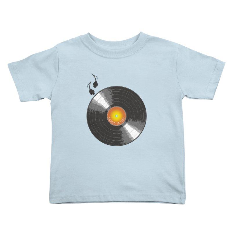 Music is Life Kids Toddler T-Shirt by nickmanofredda's Artist Shop