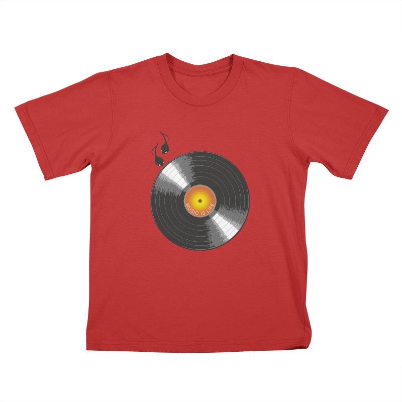 Music is Life Kids T-Shirt by nickmanofredda's Artist Shop
