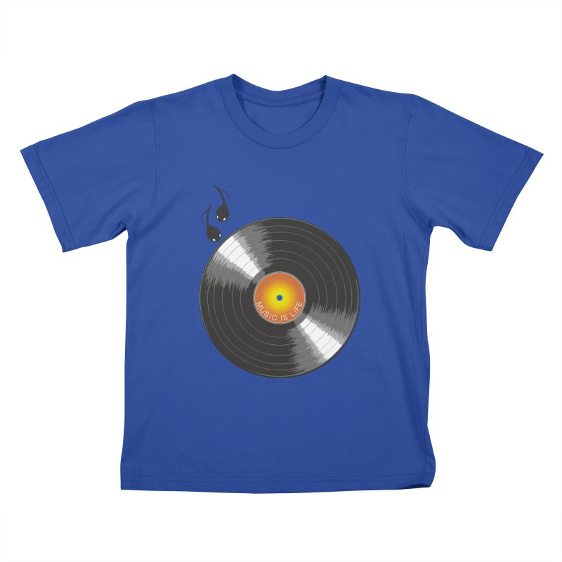 Music is Life Kids T-Shirt by nickmanofredda's Artist Shop
