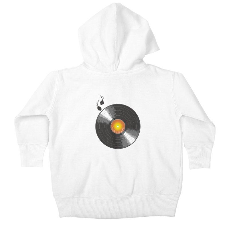 Music is Life Kids Baby Zip-Up Hoody by nickmanofredda's Artist Shop