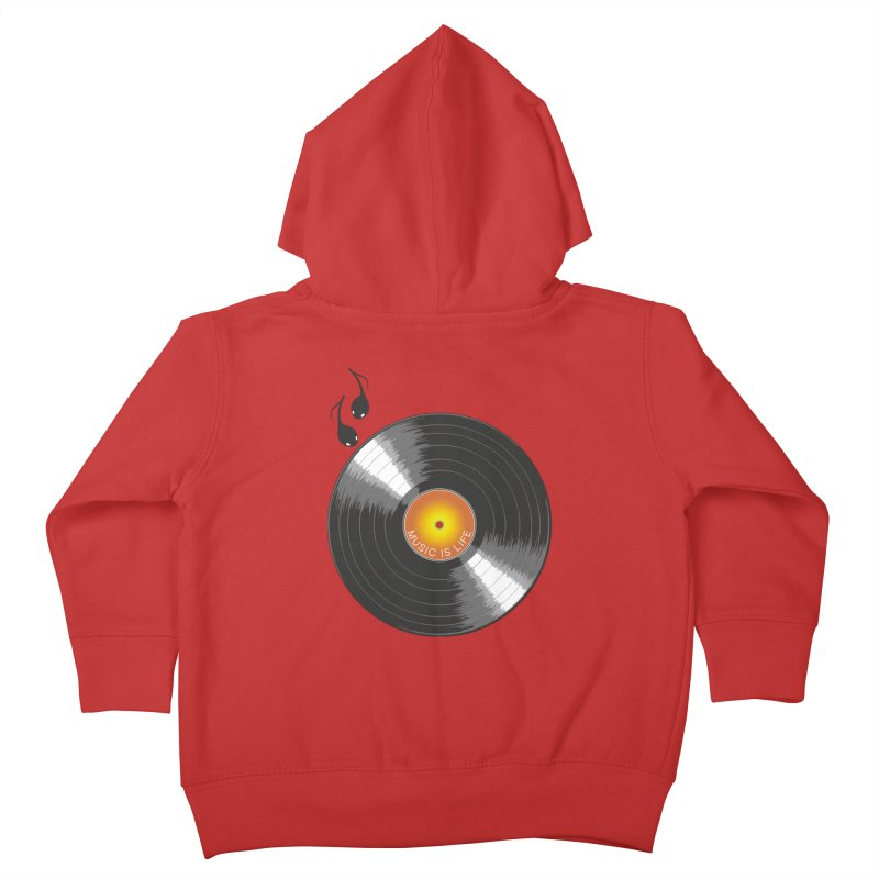 Music is Life Kids Toddler Zip-Up Hoody by nickmanofredda's Artist Shop