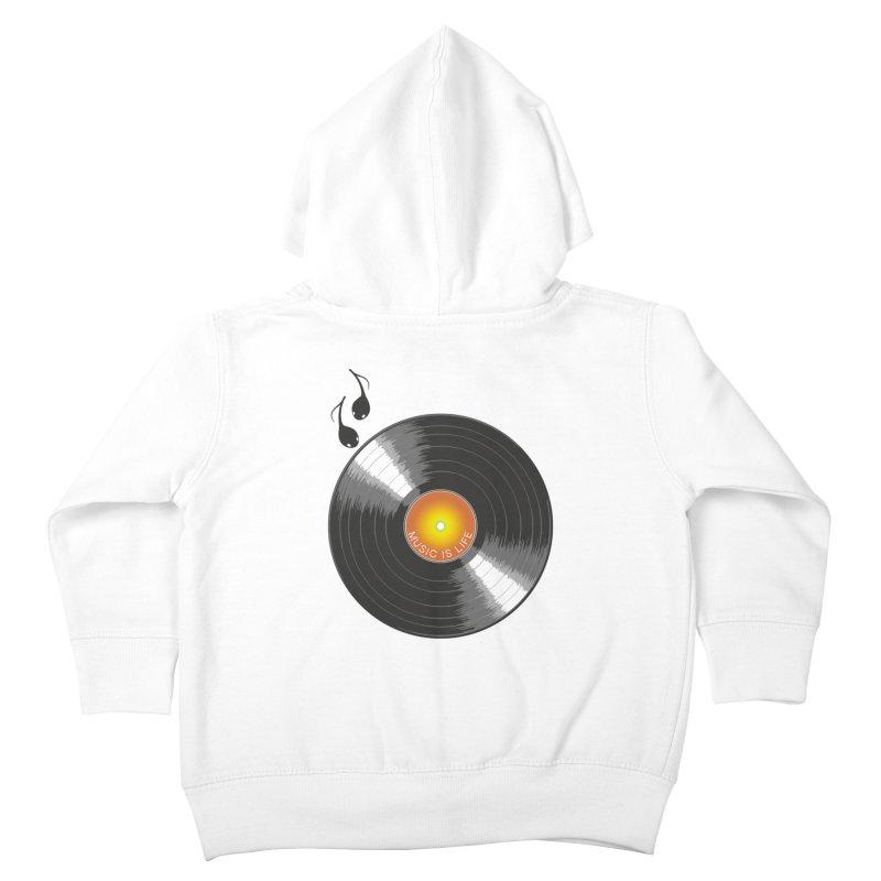 Music is Life Kids Toddler Zip-Up Hoody by nickmanofredda's Artist Shop